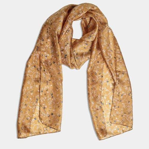 Quintessential Pilgrim Mustard Silk Scarf
