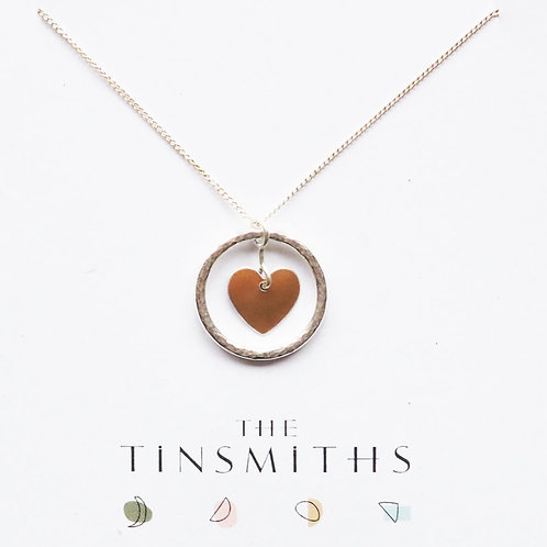 Kate Hamilton-Hunter Copper Heart and Ring Necklace