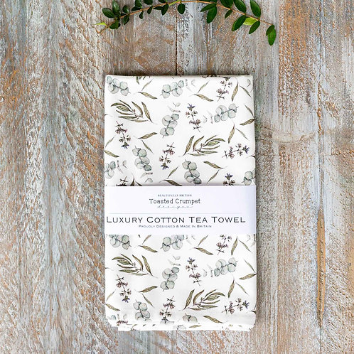 Toasted Crumpet Eucalyptus Pure Tea Towel