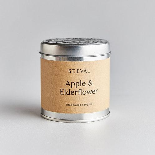 St.Eval Apple and Elderflower Tin Candle