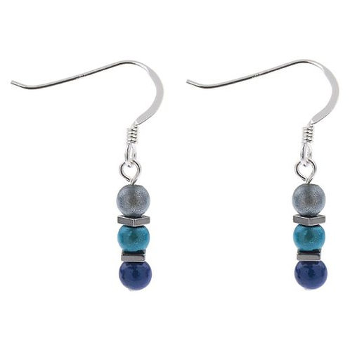 Carrie Elspeth Blues Miracle & Haematite Earrings