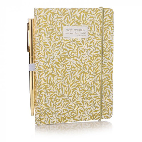 Shruti William Morris Yellow Willow A6 Notebook with Pen