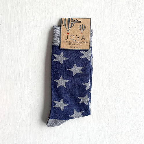 Joya Bamboo Star Ankle Socks (7-11)