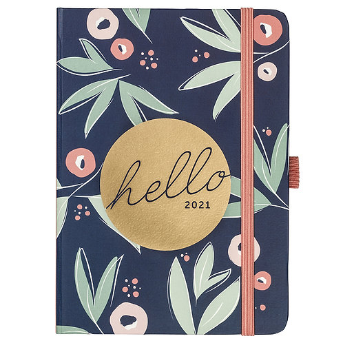 Busy B Floral 2021 A6 To Do Diary