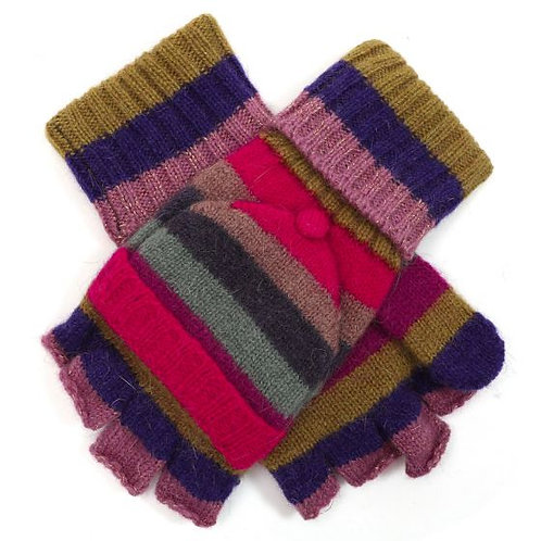 Multi-Coloured Stripe Gloves
