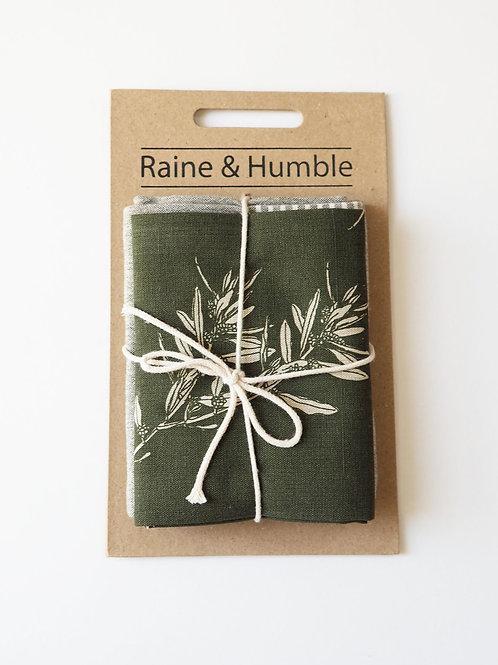 Raine & Humble Green Olive Grove 2 Pack Tea Towels