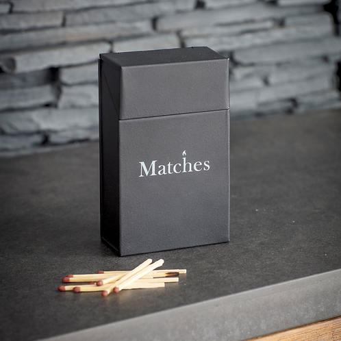 Garden Trading Carbon Powder Coated Steel Match Box