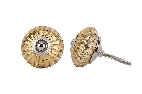 Antique Gold Glass Knob