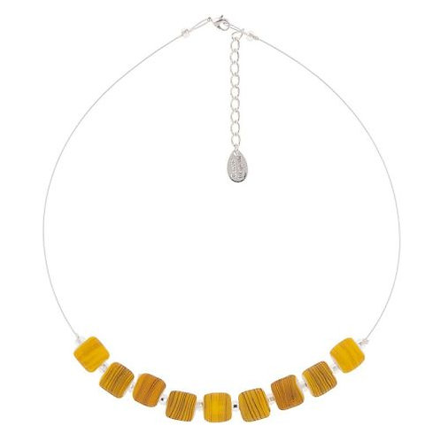 Carrie Elspeth Mustard Strata Necklace