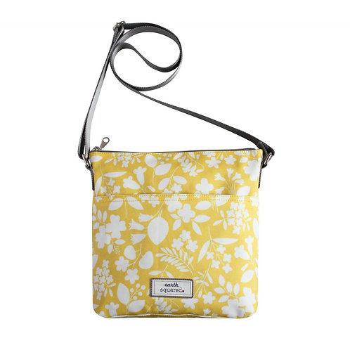 Earth Squared Sherbert Yellow Oil Cloth Messenger Bag