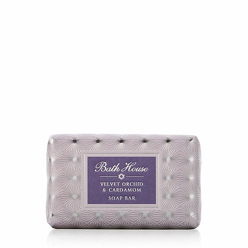Bath House Velvet Orchid and Cardamon Soap Bar 100g