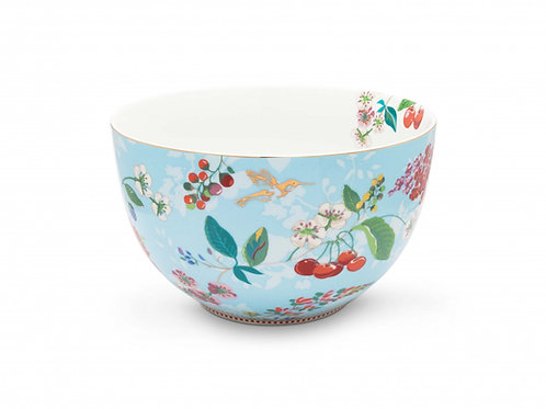 Pip Studio Blue Hummingbirds Salad Bowl 23cm