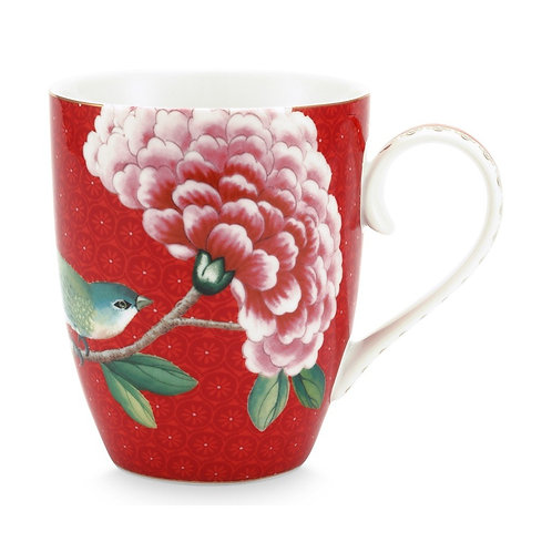 Pip Studio Large Red Blushing Birds Mug 350ml