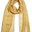 Thumbnail: Quintessential Paloma Mustard Silk Scarf