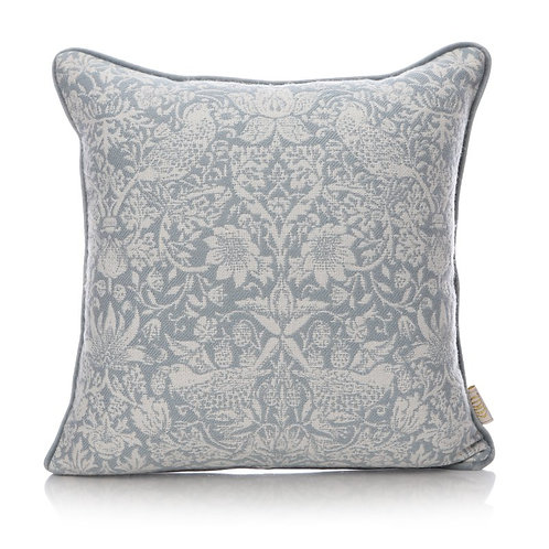 Shruti William Morris Blue Strawberry Thief Cushion (40x40)