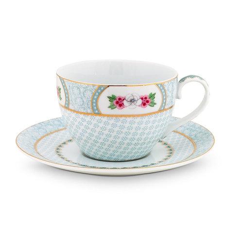 Pip Studio White Blushing Birds Cappuccino Cup & Saucer 280ml