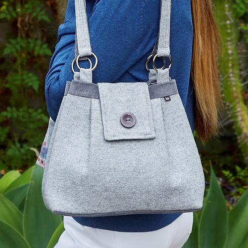 Earth Squared Herringbone Wool Ava Bag