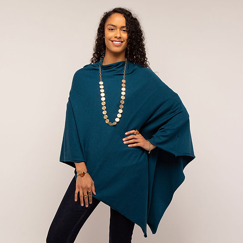 Tilley & Grace Teal Poncho