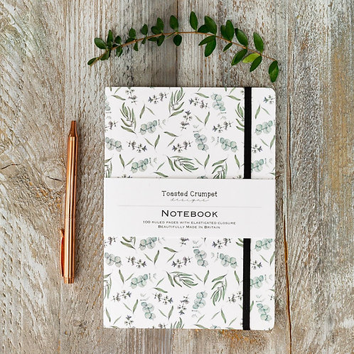 Toasted Crumpet Eucalyptus Pure A5 Lined Notebook