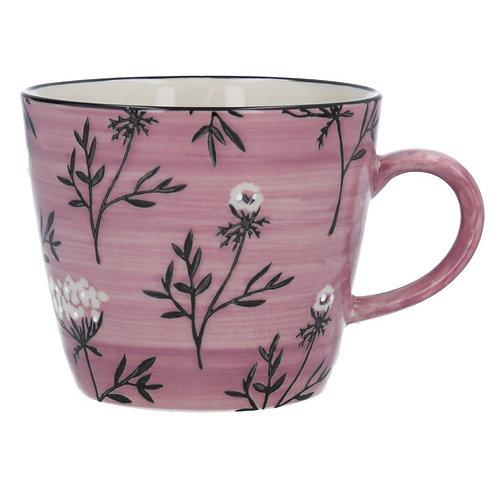 Gisela Graham Pink Cow Parsley Mug