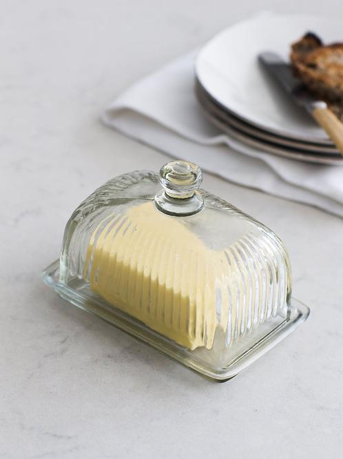 Garden Trading Glass Cornbury Butter Dish