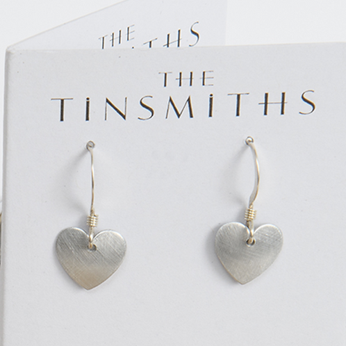 Kate Hamilton Hunter  Show details for Eco Aluminium Heart Earrings Aluminium