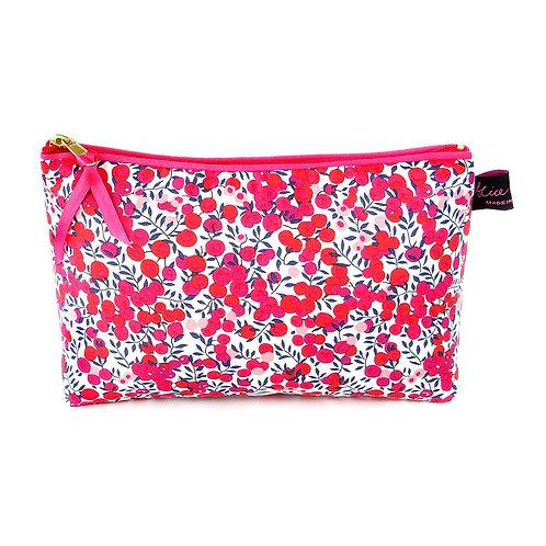 Alice Caroline Liberty Tana Lawn Wiltshire Red Cosmetic Bag