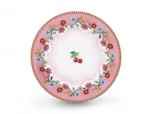 Pip Studio Pink Cherry Plate 17cm