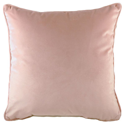 Powder Pink Piped Velvet Cushion (56cm)
