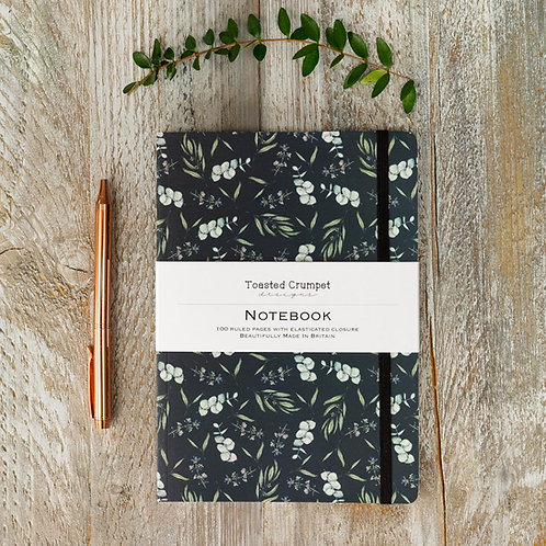 Toasted Crumpet Eucalyptus Noir A5 Lined Notebook
