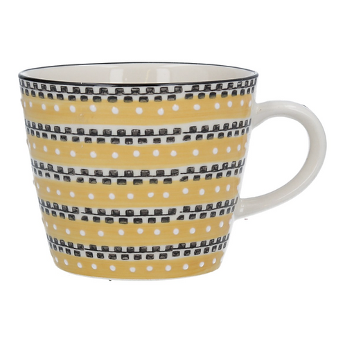 Gisela Graham Track Mustard Mug
