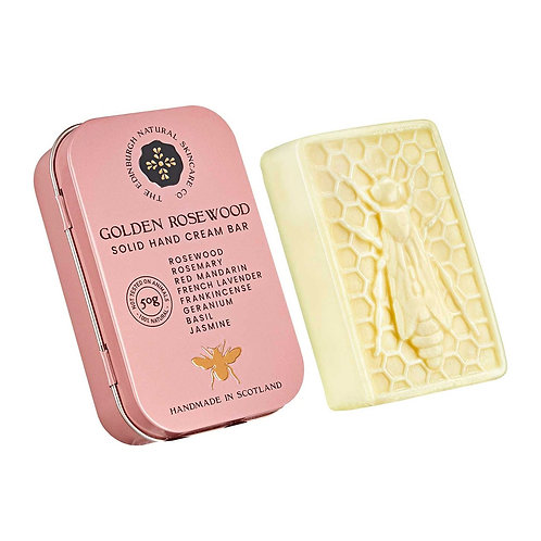 The Edinburgh Natural Skincare Co Golden Rosewood Solid Hand Cream Bar