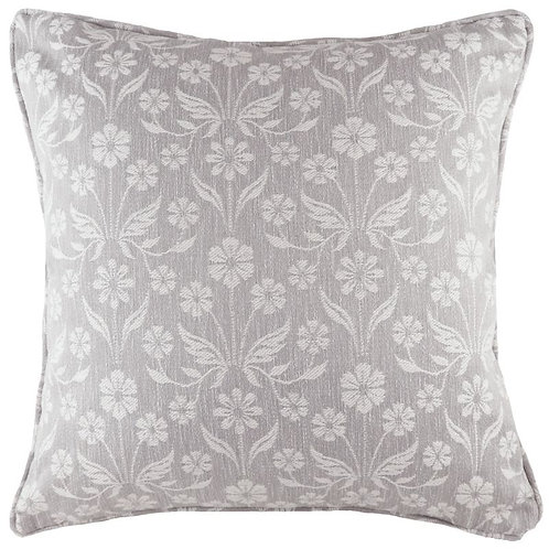 Grendale Grey Floral Piped Cushion