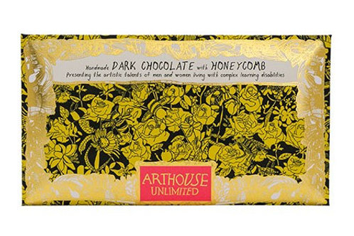 ARTHOUSE Unlimited Bee Free Handmade Dark Chocolate with Honeycomb Pieces