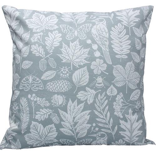 Gisela Graham Grey Garden Study Cushion