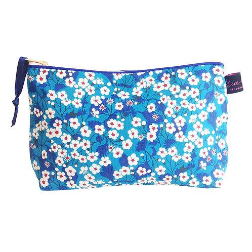 Alice Caroline Liberty Tana Lawn Mitsi Blue Cosmetic Bag