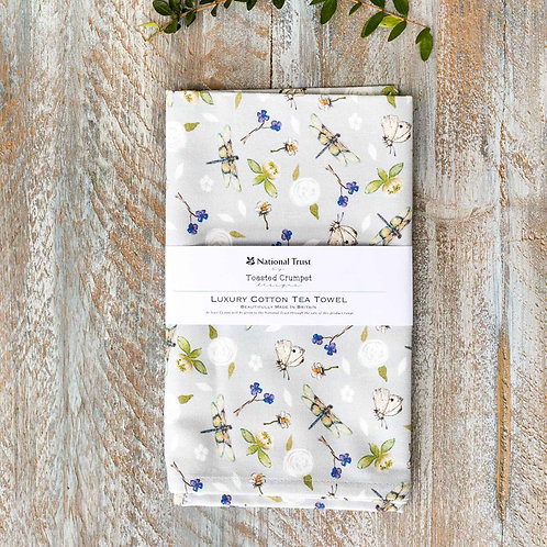 Toasted Crumpet Dragonfly Pure Tea Towel