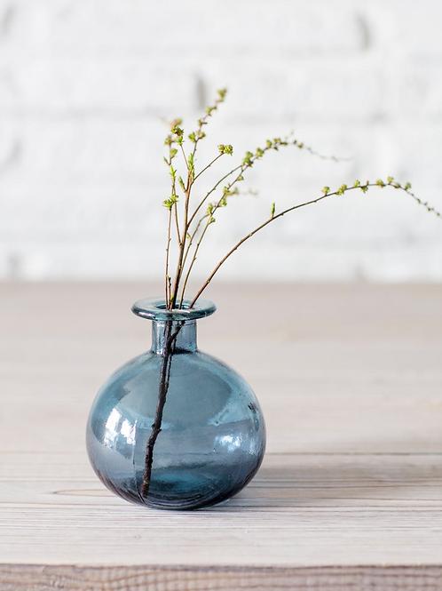 Garden Trading Recycled Glass Round Bud Vase