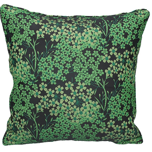 Gisela Graham Emerald Flowers Cushion