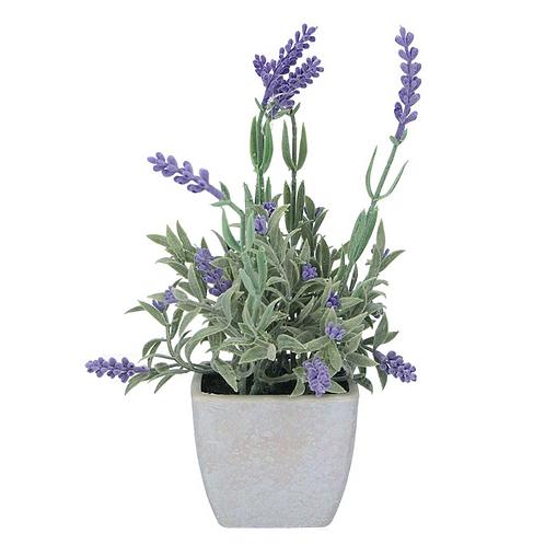 Gisela Graham Faux Lavender Potted Plant