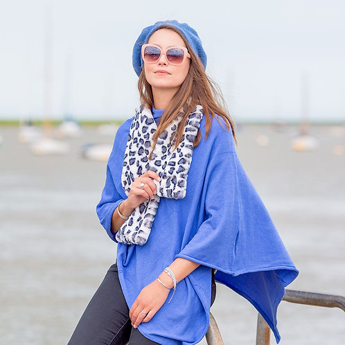 Tilley & Grace Cornflower Blue Poncho