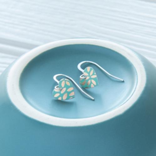 Kate Hamilton Hunter  Kyoto Garden Jade Small Round Heart Earrings