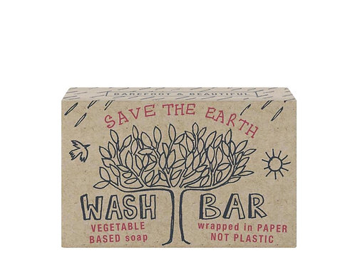 Barefoot and Beautiful 'Save The Earth' Bergamot Soap Bar