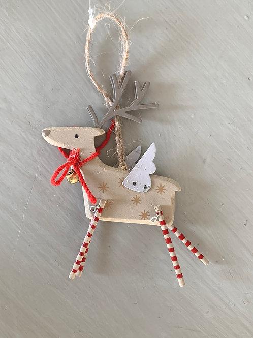 Taupe Swing Leg Reindeer Decoration