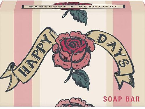 Barefoot & Beautiful Free Spirit 'Happy Days' Wild Rose Soap Bar 100g