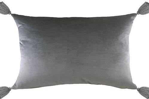 Steel Velvet Tassel Cushion