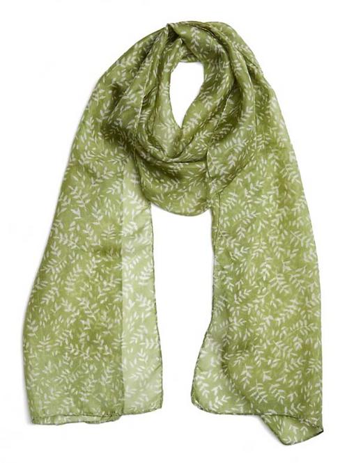 Quintessential Paloma Green Silk Scarf