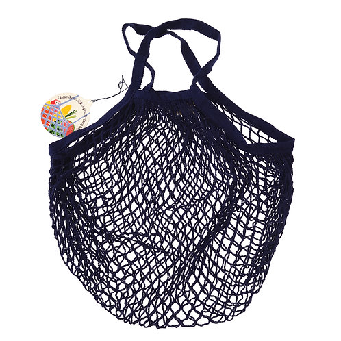 Rex Organic Cotton Navy Blue French Market Bag