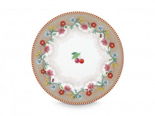 Pip Studio Khaki Cherry Plate 17cm