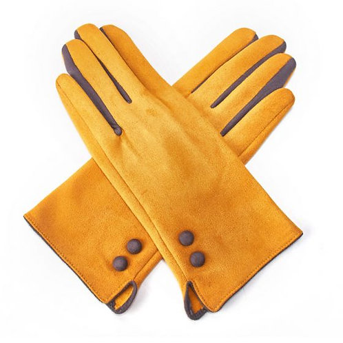 Mustard and Grey Gloves